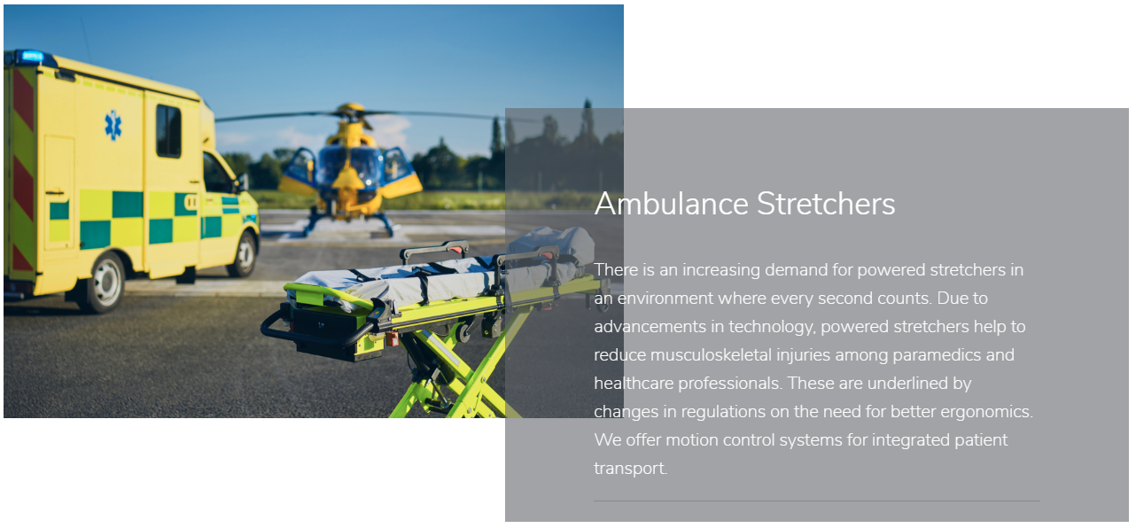 Ambulance strechter slider