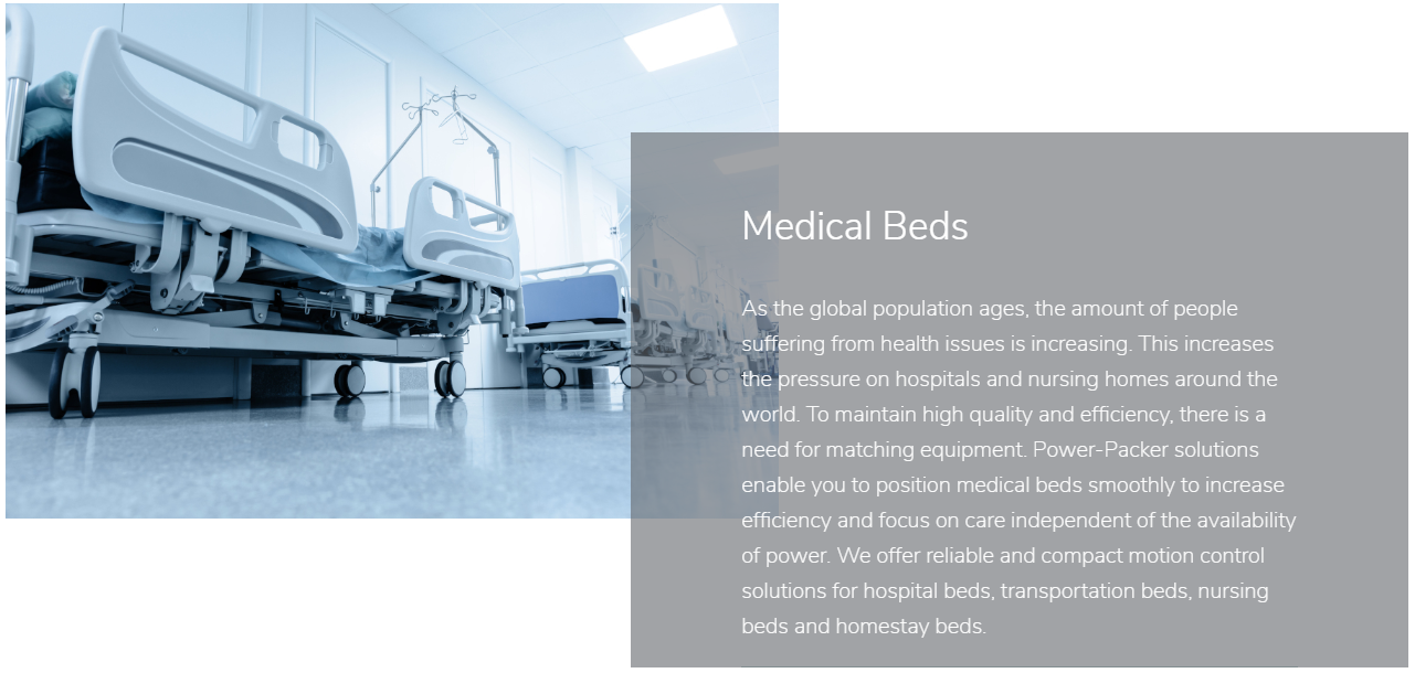Medical beds slider