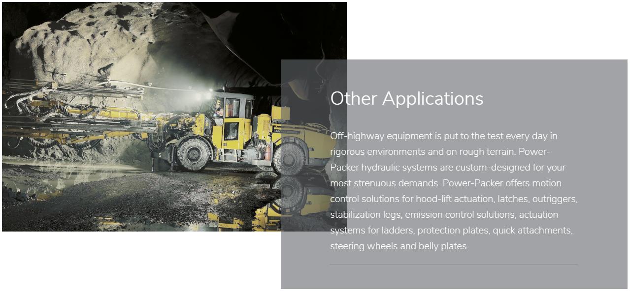 Other application slider off highway