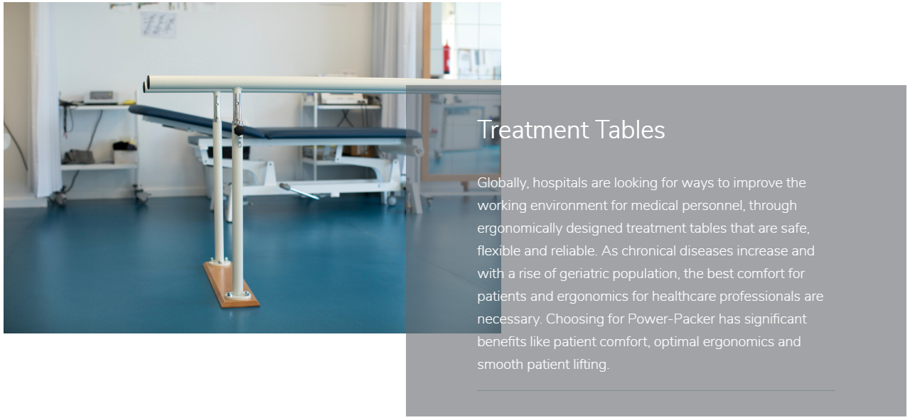Treatment Tables Slider